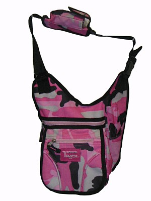 PINK CAMO Messenger Sling Body Bag Backpack Purse Small
