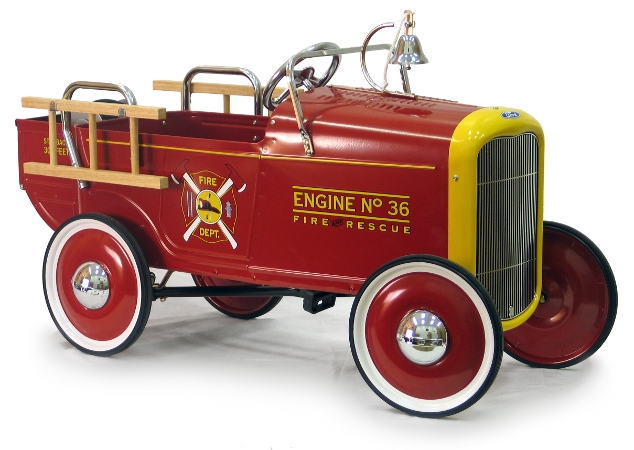 Fire Truck Pedal Car: 1932 Ford Fire Truck Pedal Car Free Shipping NEW 32