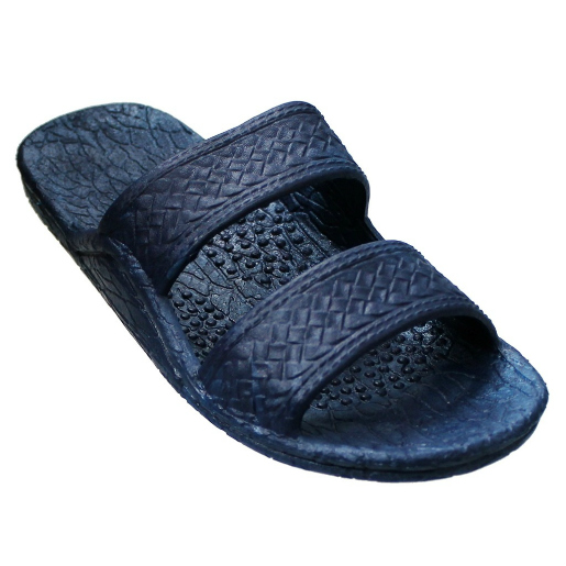 Pali Hawaii Sandals 405 Navy Free Ship Unisex Soft Rubber