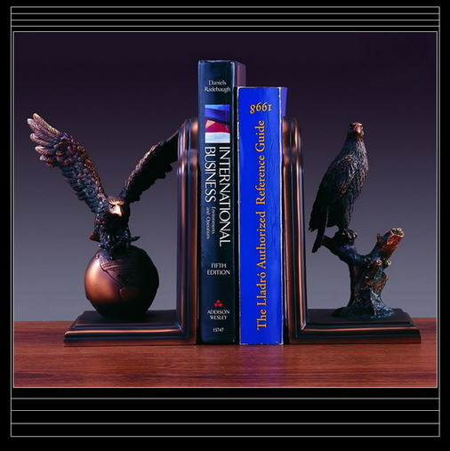 EAGLE Bookends Bronze Sculpture Statue
