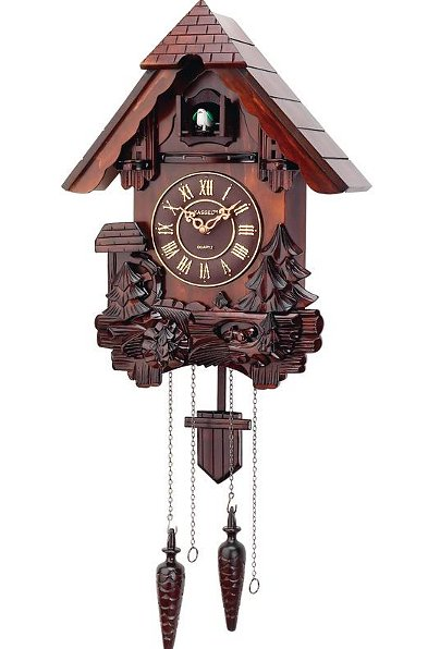 Kassel german black forest style cuckoo clock hand carved free shipping new ebay - Coo coo clock pendulum ...