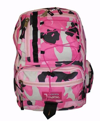 PINK Camoflauge Backpack School Pack Bag NEW Camo 283