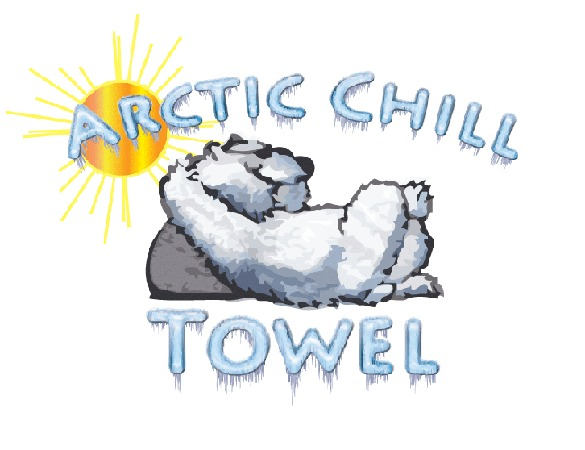 Arctic Chill Towel Cooling Cool Hot Flashes Sports Ad
