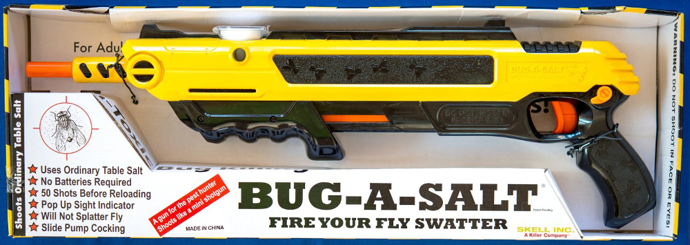 Bug A Salt Fly Swatter The Original Salt Green Insect New Pump Action Man Toy | eBay