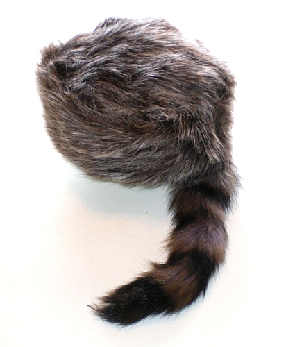 Davey Crockett Coonskin Cap Real Fur Tail Racoon Coon ...