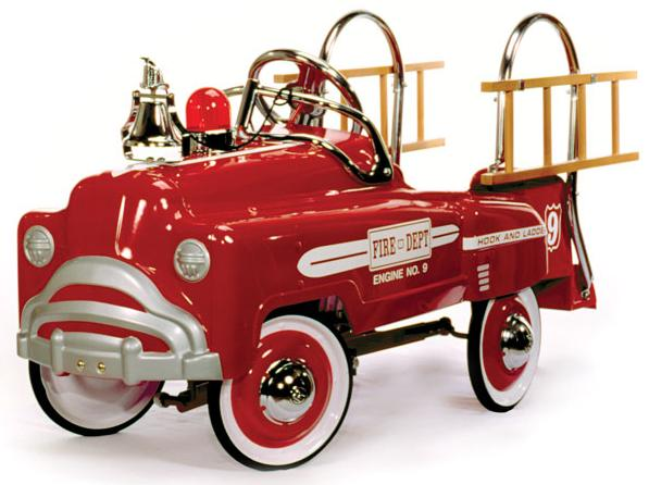 Fire Truck Classic Pedal Car Free Shipping Retro New