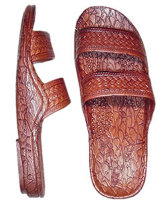 Pali-Hawaii-Sandals-405-Brown-Free-Shipping-Unisex-Soft-Rubber-Slip-On-Slide