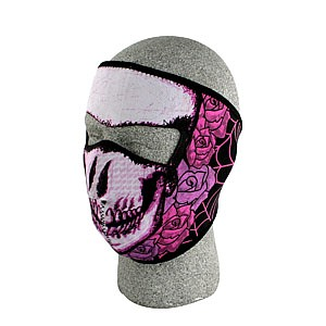 Lady Pink Skull Neoprene Face Mask Motorcycle Rubber