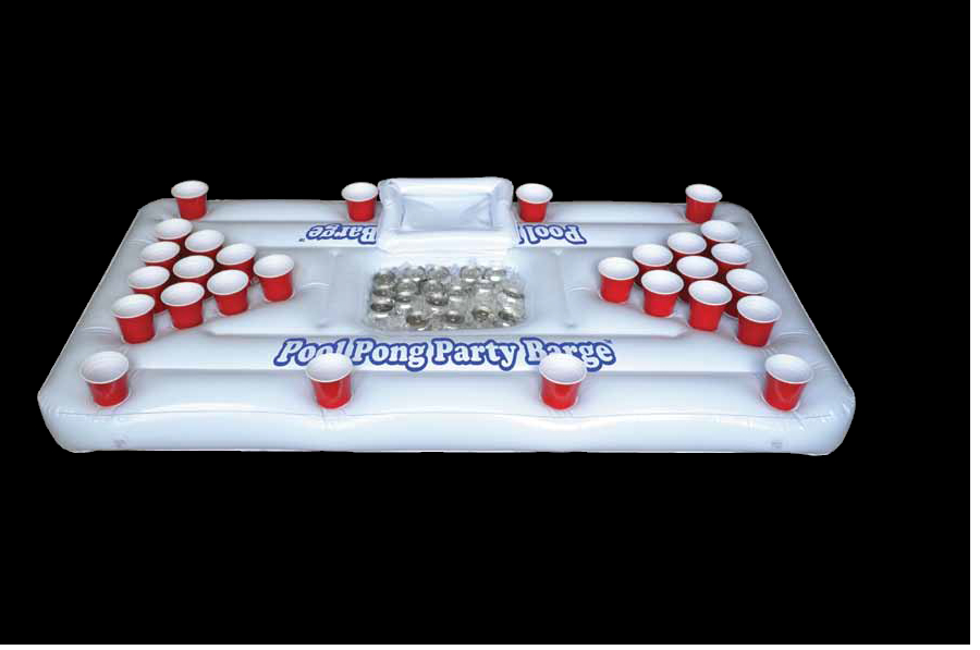 The Party Barge Inflatable Swimming Pool Beer Pong Table