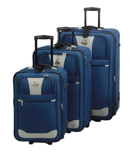 3 Piece Rolling Luggage Set NEW With FREE Duffel
