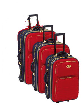4 Piece Rolling Luggage Set NEW BIG Wheels Colors