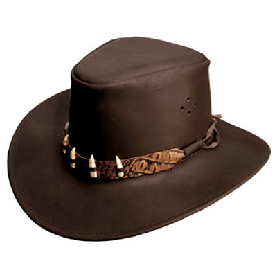 KAKADU Traders Australia THE CROC Brown Hat Leather